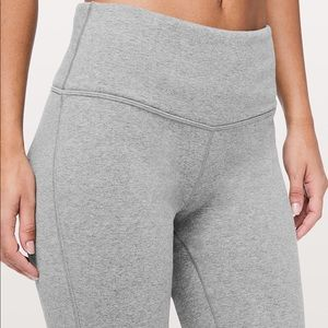 Lululemon Wunder Lounge Pant, Heather Grey size 6